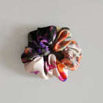 Multicoloured Chunky Silk Scrunchie