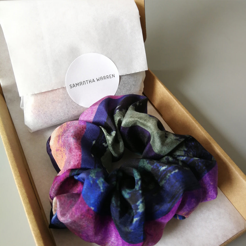 Watercolour Chunky Silk Scrunchie