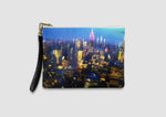 NYC Silk and Leather Wristlet