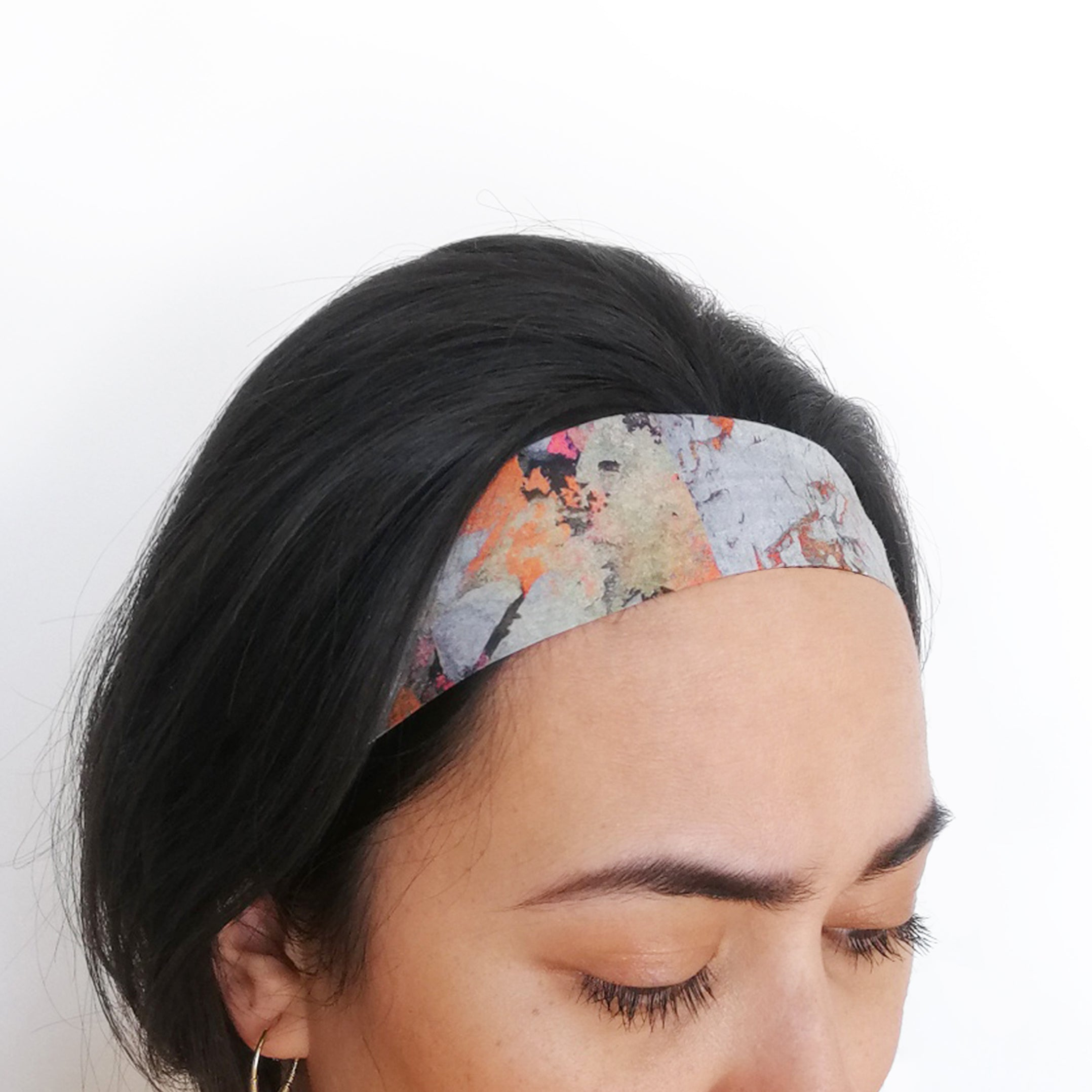 Silk Face Mask and Headband Set - Orange