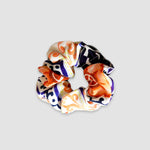 Orange Tile Silk Scrunchie
