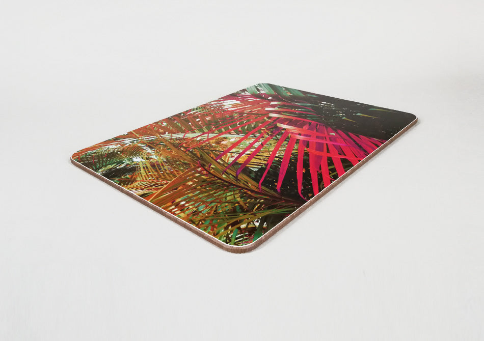 Colourful palm print placemat