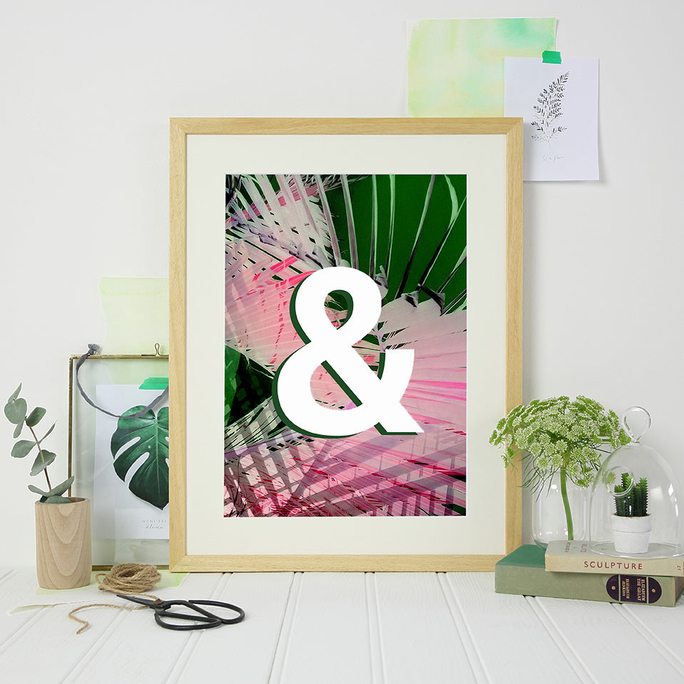 Personalised Initial Tropical Print