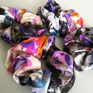 Patterned Chunky Silk Scrunchie