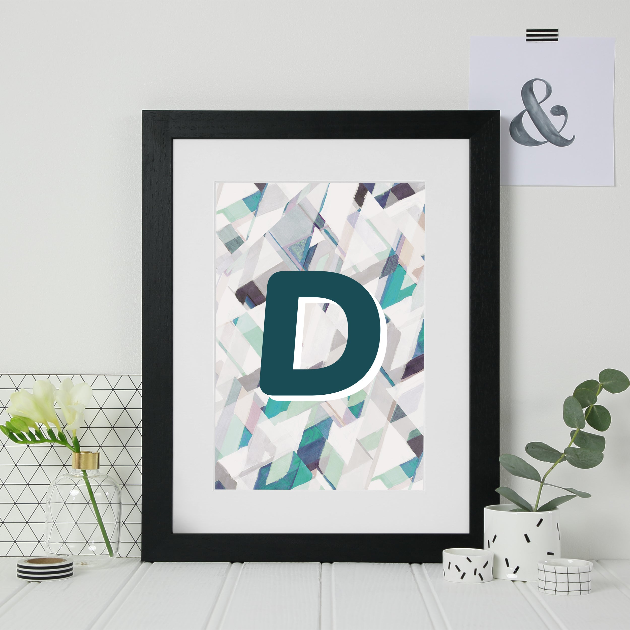 Personalised Initial Architectural Print