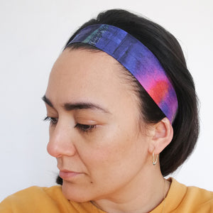 Silk Face Mask and Headband Set - Watercolour
