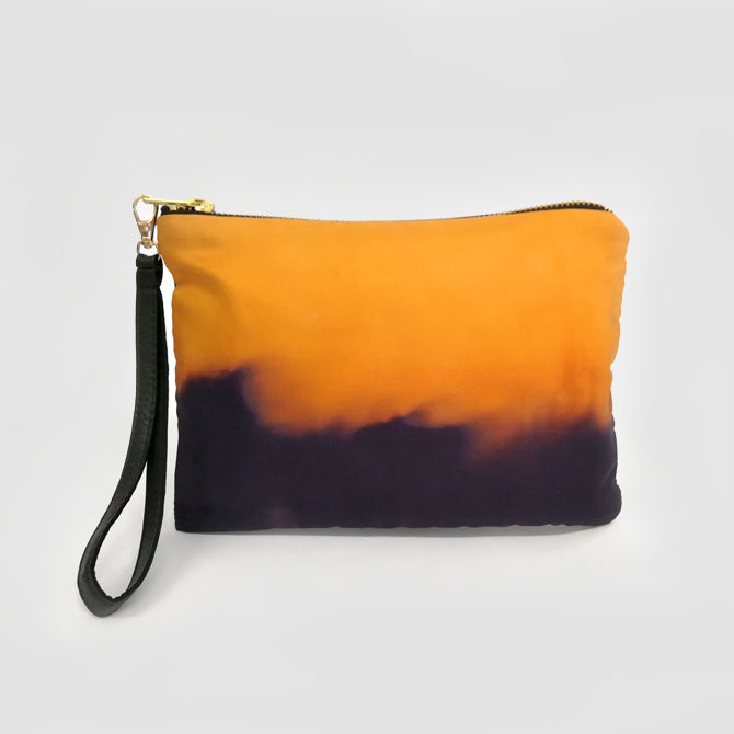 Pumpkin Orange Natural Hand-dyed Bag