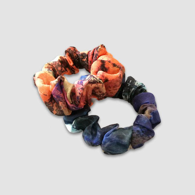 Blue and Red Scrunchie Set