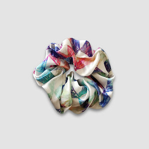 Multicoloured Silk Scrunchie