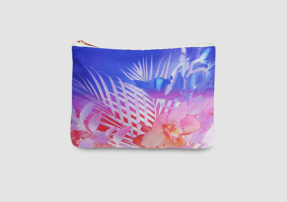 Orchid print clutch bag Samantha Warren
