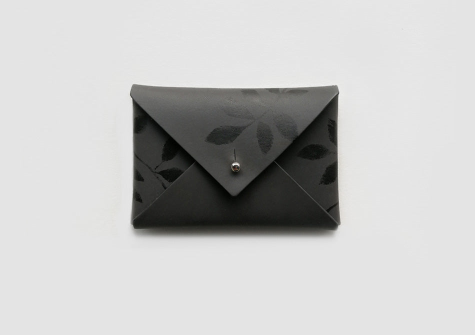 Black Leather Card Holder and Coin Purse - Samantha Warren