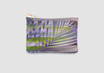 Green and purple leaf print bag by Samantha Warren
