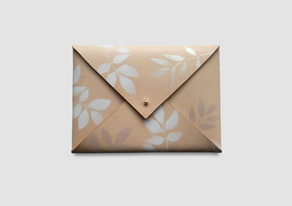 Nude Leather iPad Case - Samantha Warren