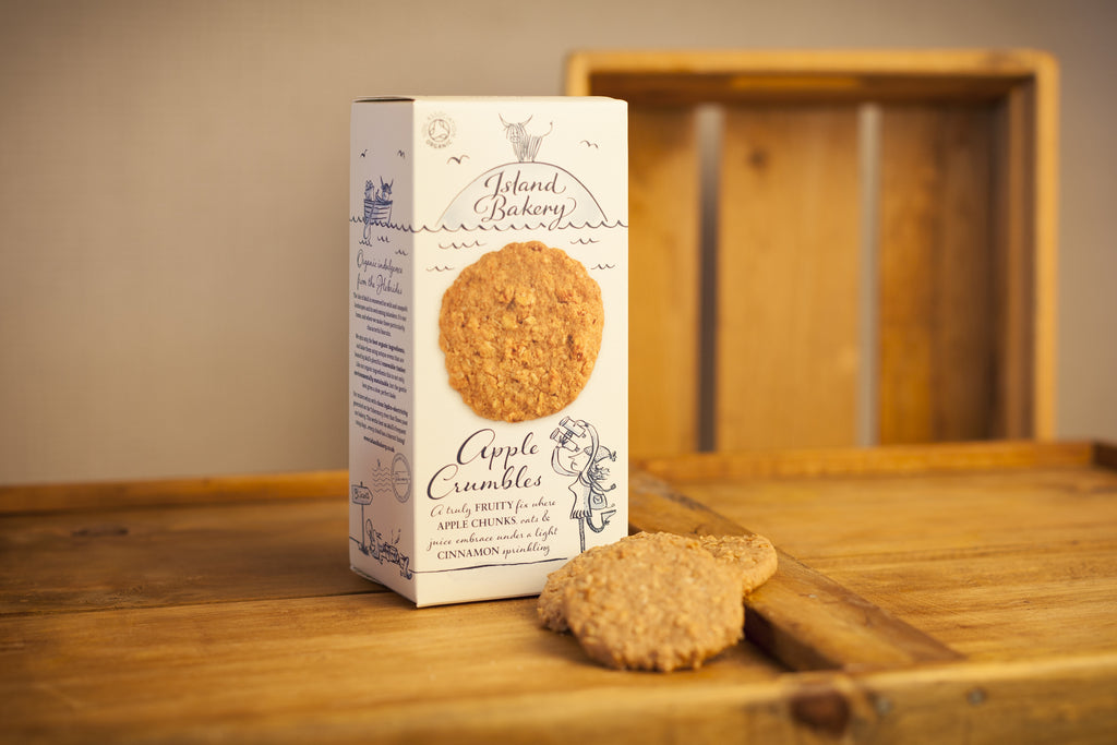 Organic Apple Crumbles Biscuits - Island Bakery