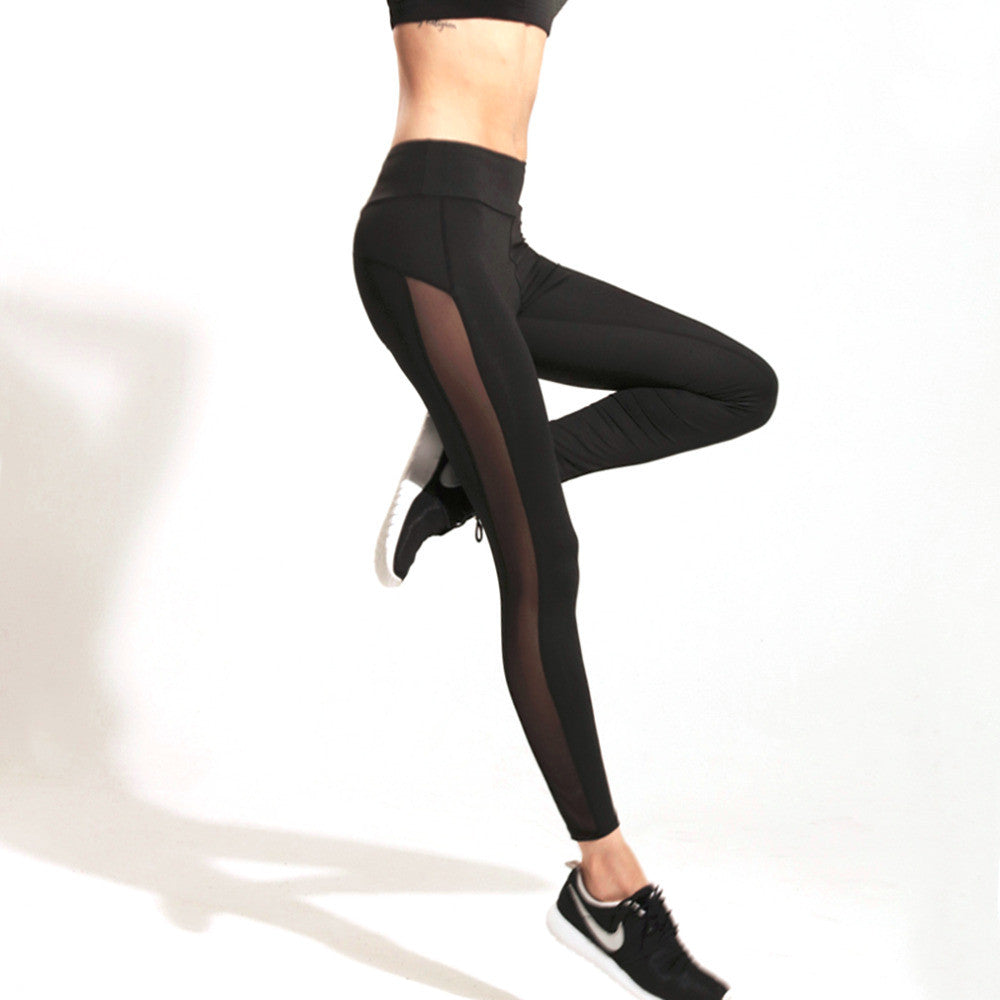 Ladies Mesh Yoga Leggings