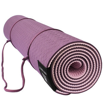 Eco Safe Non Slip Yoga Mat with Carry Strap