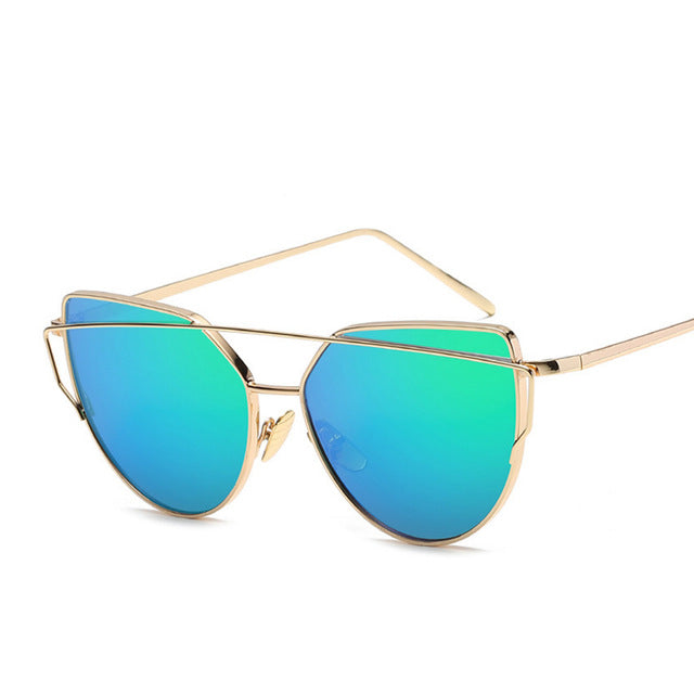 Cateye Vintage Mirror Sunglasses