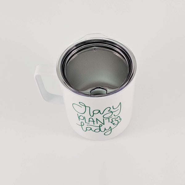 Crazy Plant Lady Stainless Coffee Cup - READY TO SHIP