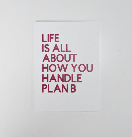 Life Is All About How You Handle Plan B Canvas Panel/Housewarming Gift/Wall Decor/Home Decor/Wall Quotes/Wall Sayings/Canvas Sign/Wall Art