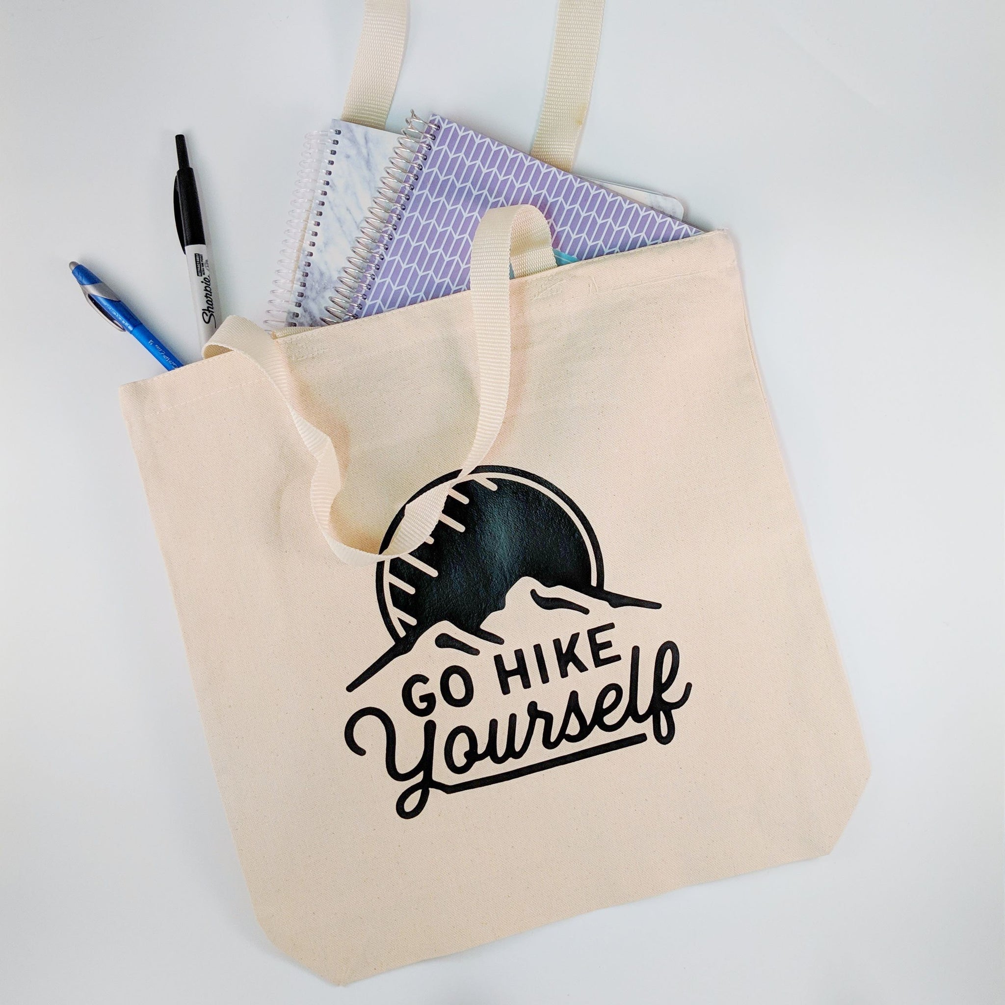 FREE SHIPPING Go Hike Yourself Canvas Tote Bag