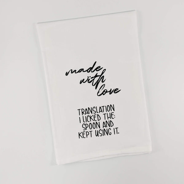 FREE SHIPPING Made With Love Funny Kitchen Towel