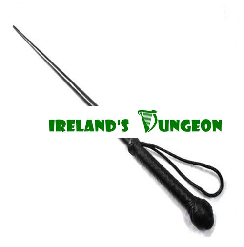 42 Inch Replica South African Sjambok Cane is a irelandsdungeon painful leather cane with leather handle