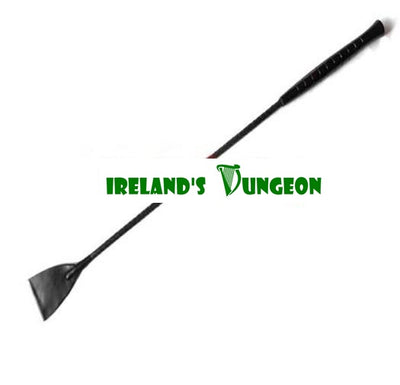 Extra Large Headed Leather Riding Crop - irelandsdungeon