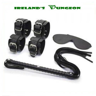 Black Body BDSM Restraints Kit - 4 Pieces - irelandsdungeon Bondage Kits & Bedroom Bondage-bdsm gear