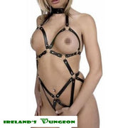 Black Leather Ring Harness - irelandsdungeon  wedobondage- irelandsdungeon  Bondage Harnesses-bdsm gear