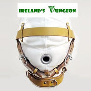 Faux Leather Total Sensory Deprivation Mask - irelandsdungeon  wedobondage- irelandsdungeon  Bondage Masks & Blindfolds-bdsm gear