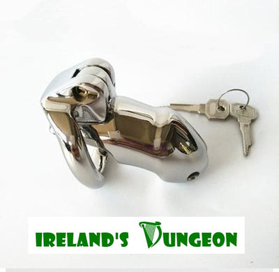 HTrainer Fetish Chastity Device V2 Stainless Steel - irelandsdungeon  wedobondage- irelandsdungeon  No Padlock Cock Cages-bdsm gear