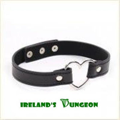 Heart Metal Bondage Gag with leather strap for bondage- irelandsdungeon