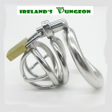 Male Chastity Device With Arc-Shaped Cock Ring - Irelands Dungeon