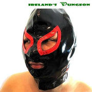 Kinky Double BDSM Colors Shiny PVC Hood - irelandsdungeon  wedobondage- irelandsdungeon  Bondage Masks & Blindfolds-bdsm gear