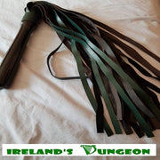 Green & Black Leather Bdsm Flogger