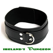 Wide Black Collar with Double Buckle