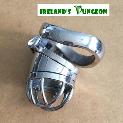 New Stainless Steel Male Short POD Chastity Device