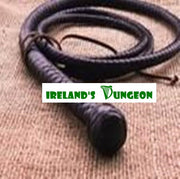 4ft Leather Texas Single Tail Bullwhip from Irelands Dungeon bondage is a great shorter whip for pain play