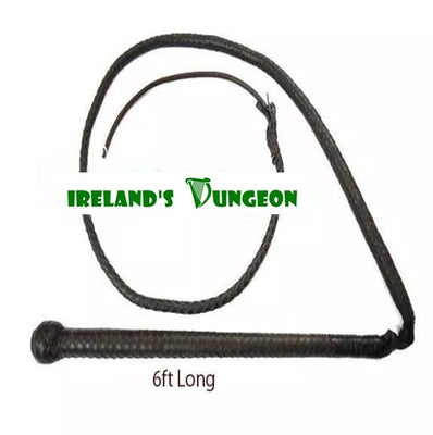 Leather BDSM 6ft CircusTop Leather Whip - Irelands Dungeon