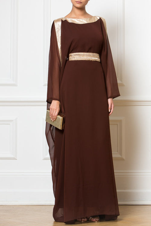 Brown Golden Kaftan
