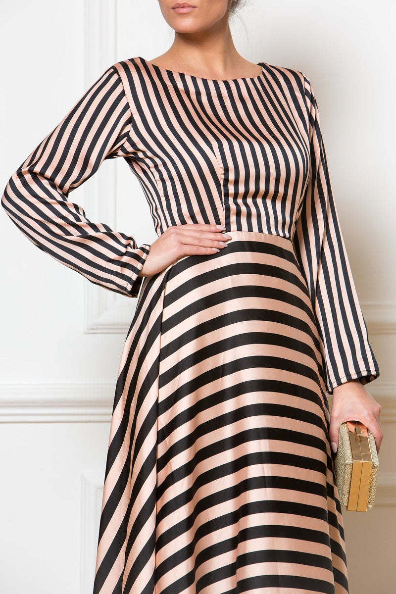 Maxi Navy Striped Dress