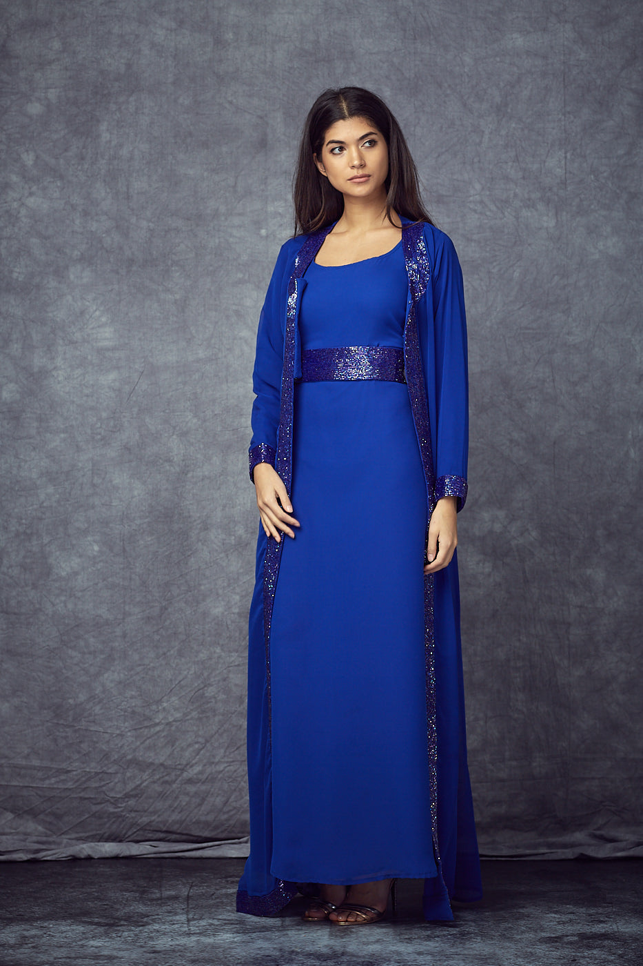 Royal Blue Embellished Gown