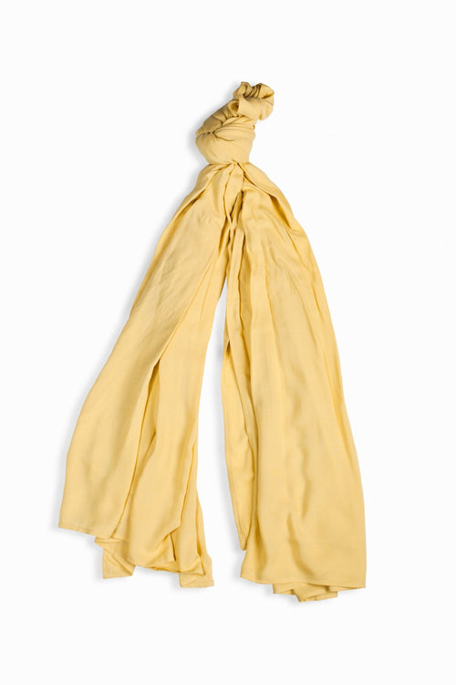 Yellow Crepe Scarf