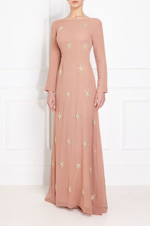 Starflower Embroidered Gown