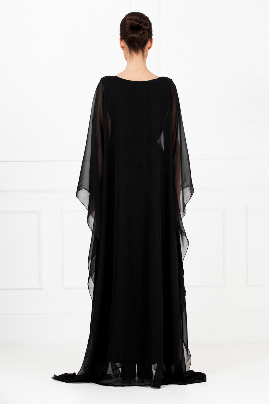 Black Embellished Kaftan