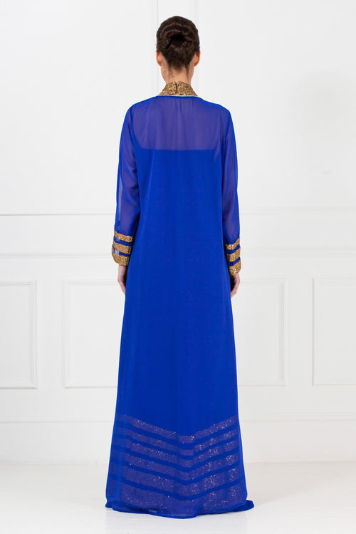 Royal Blue Cape Gown