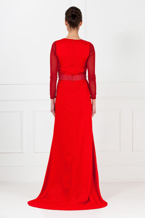 Deep Red Maxi Dress
