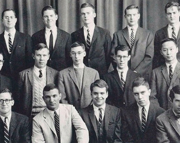Yale students posing for a photo