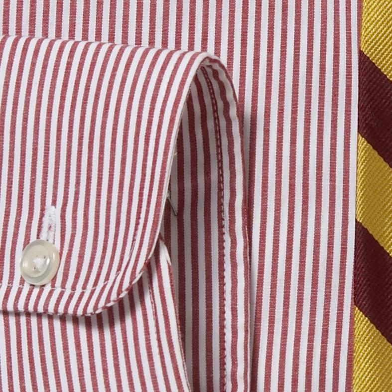 CANDY STRIPE BUTTON DOWN - RED/WHITE
