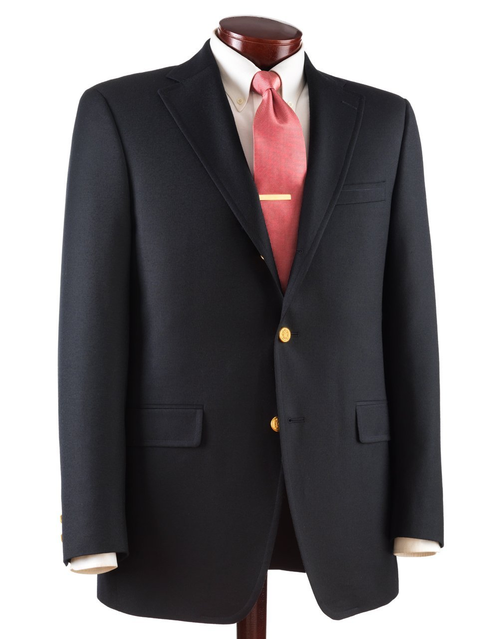 J.PRESS BLUE BLAZER - AUSTRALIAN PEPPIN MERINO WOOL 3 BUTTON - NAVY